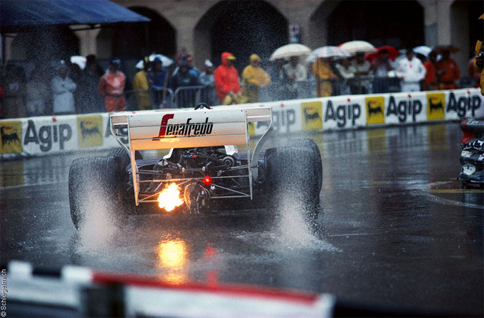 Formula 1 backfire